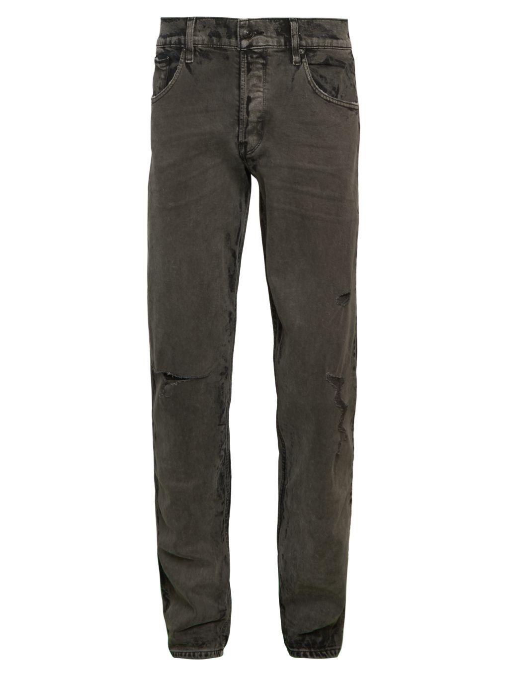 Hudson Jeans Distressed Slim Straight Jeans