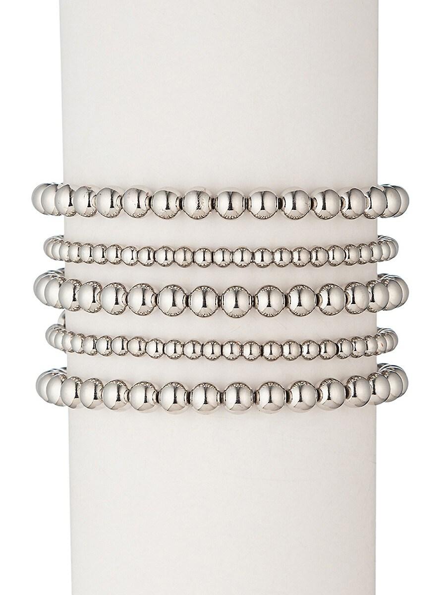 Women's Emma 18K White Goldplated Bracelet