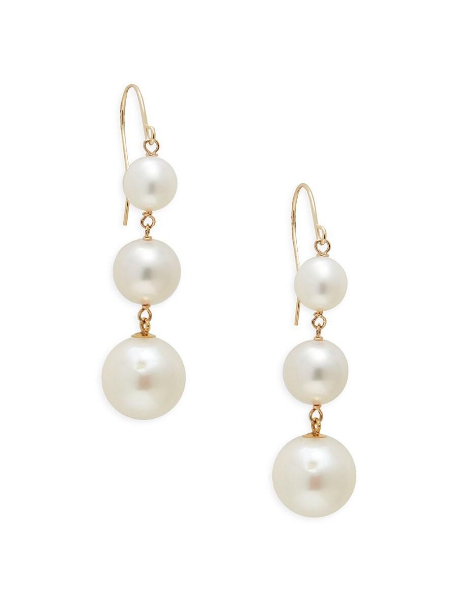 Women's 14K Yellow Gold & 6-10MM Freshwater Pearl Drop Earrings