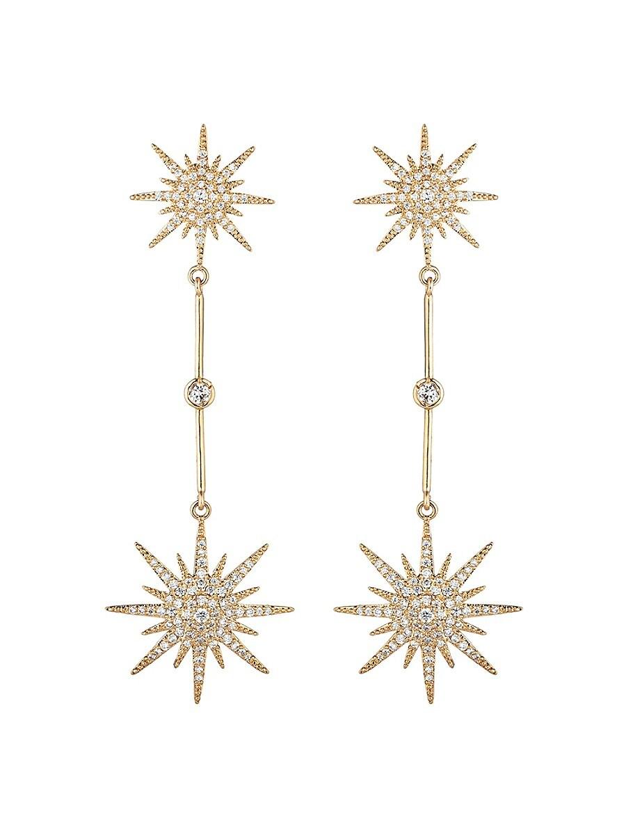 Women's Arya North Star Cubic Zirconia Drop Earrings