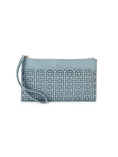 훌라 Furla Italia Leather Envelope Wristlet Card Case,AVIO
