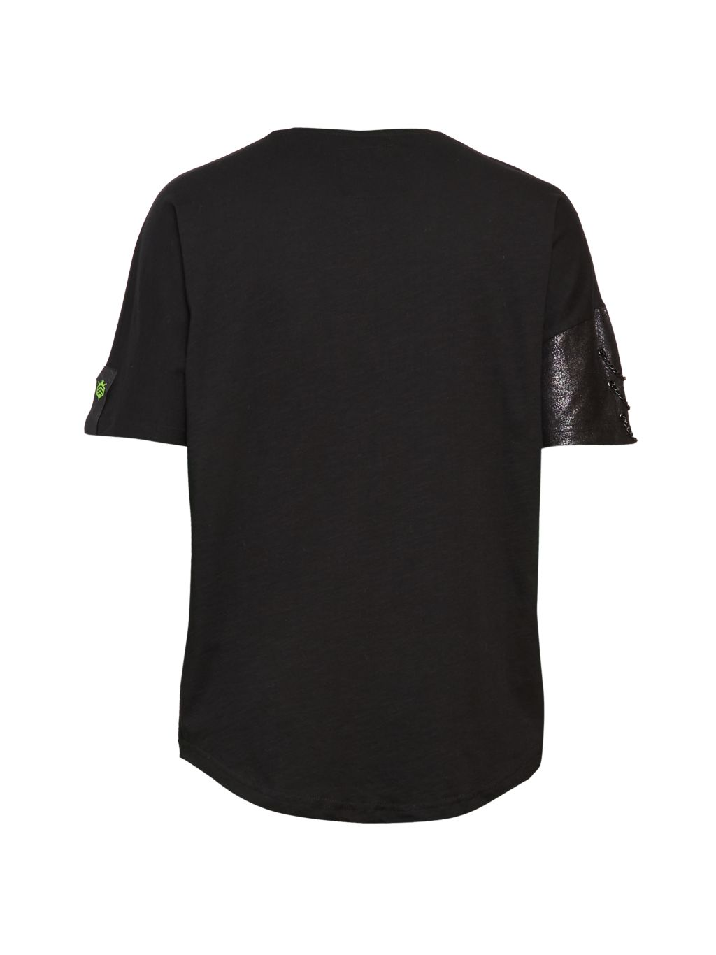 RON TOMSON Chain-Trimmed Glitter Cotton T-Shirt