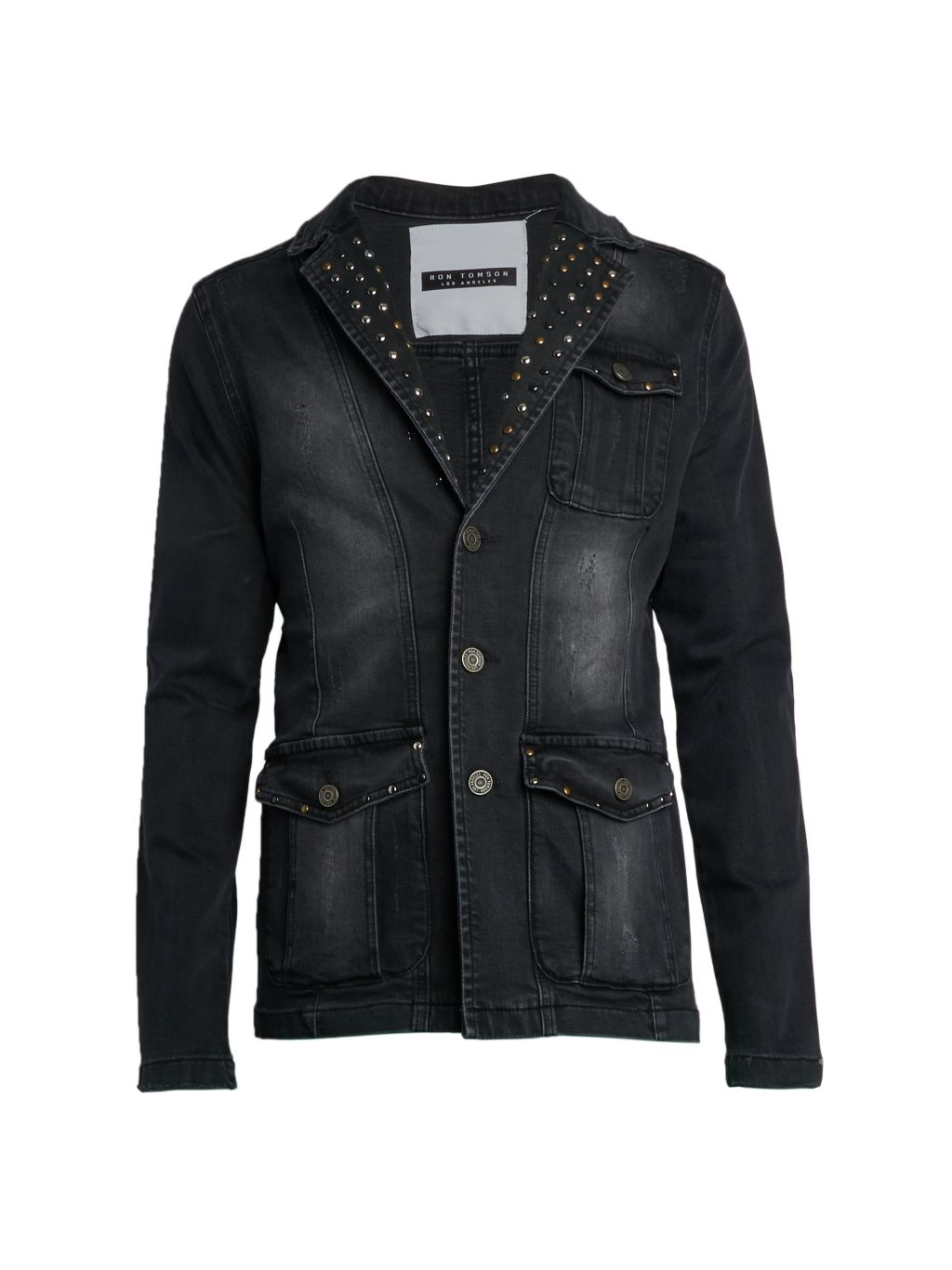 RON TOMSON Artist Studded Denim Jacket
