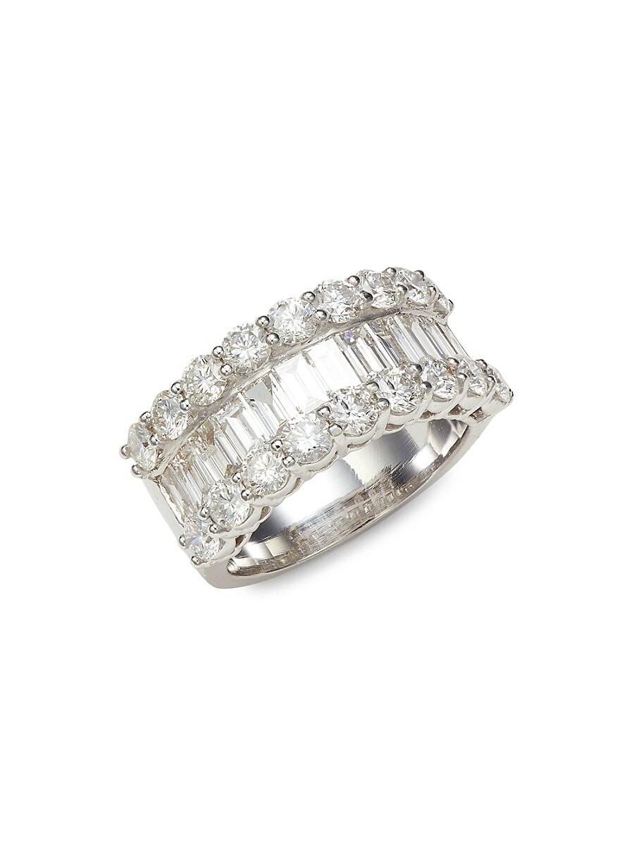 Women's 14K White Gold & 4.00 TCW Diamond Band Ring