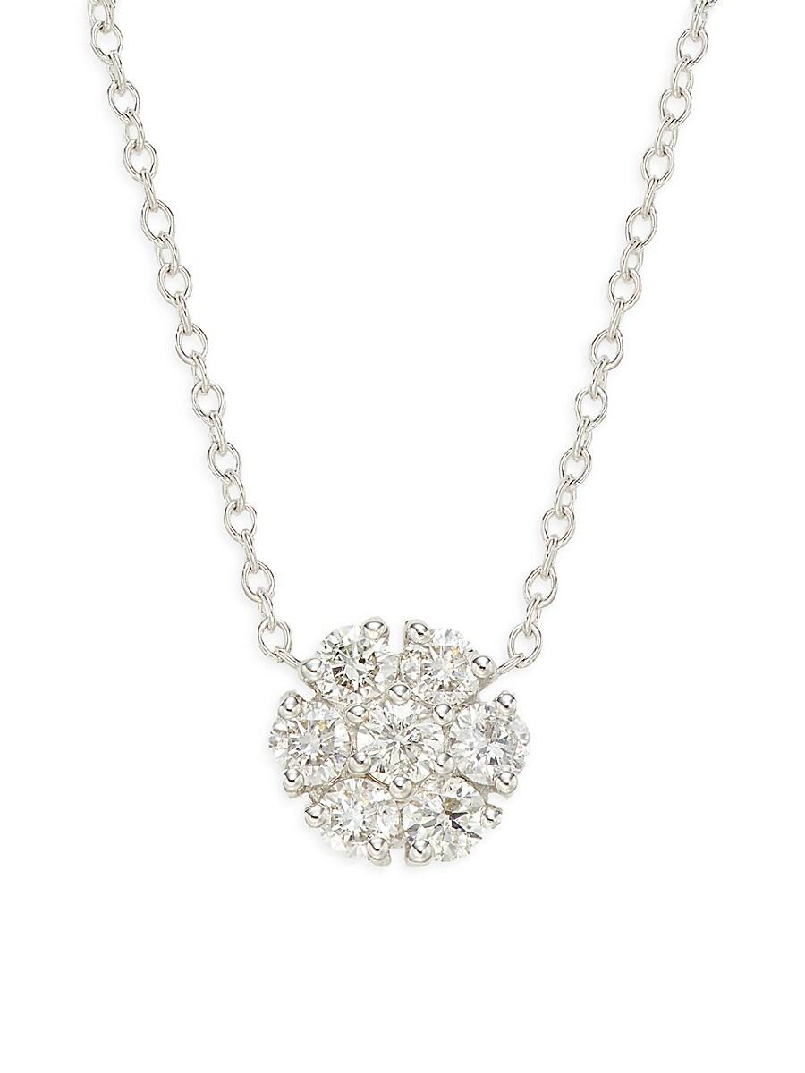 Women's 14K White Gold Diamond Pendant Necklace