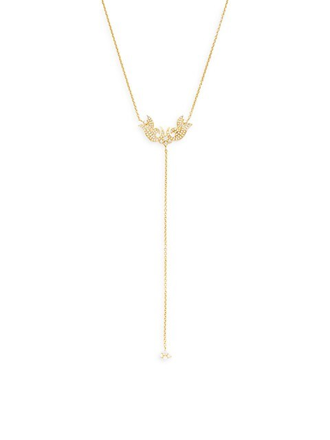 Sara Weinstock French Tulip 18K Yellow Gold & Diamond Lariat Necklace