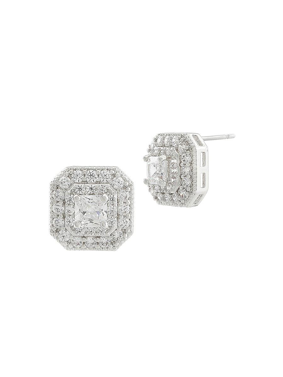 Women's CZ Cluster Collection Cubic Zirconia Stud Earrings