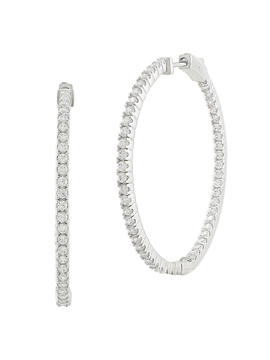Women's Cubic Zirconite Hoop Earrings
