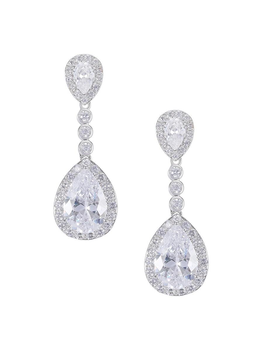 Women's Cubic Zirconia Pear Shape Drop Earrings