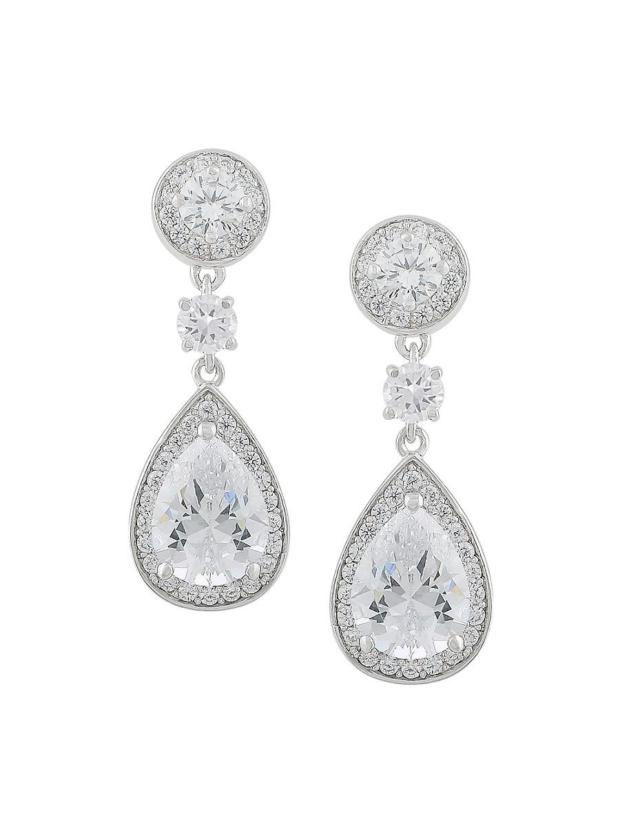 Women's Cubic Zirconite Teardrop Earrings