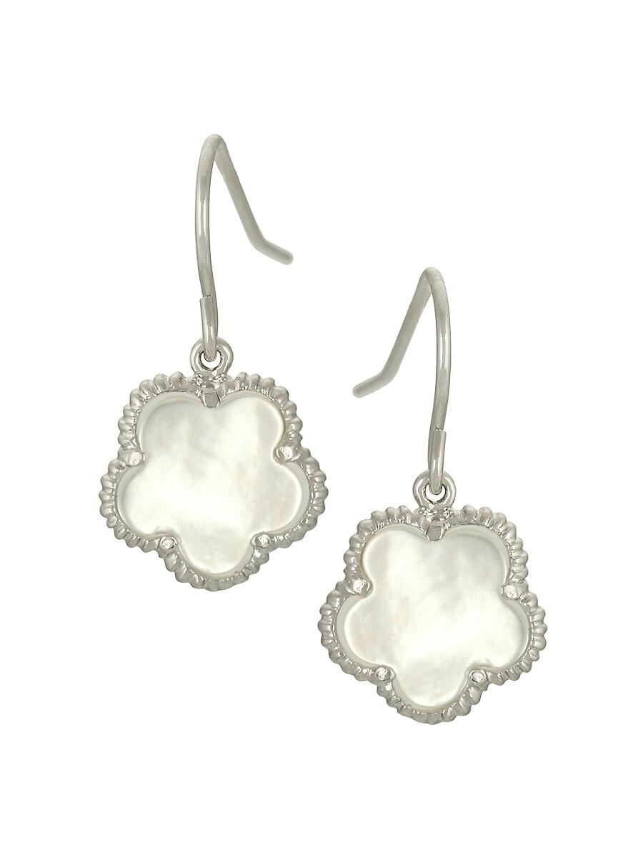 Women's Small 14K Goldplated & Mother-Of-Pearl Flower Drop Earrings
