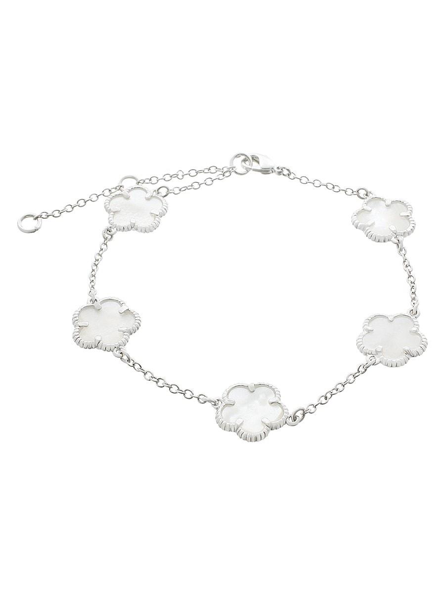 Women's Clover Mother-Of-Pearl Charm Bracelet