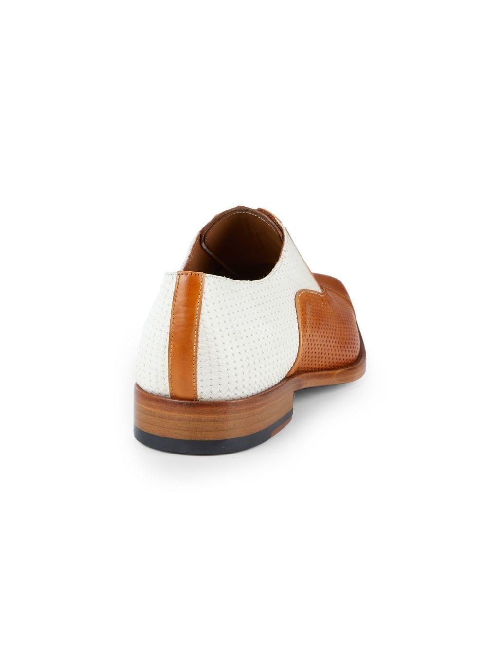 Mezlan Two-Tone Perforation Leather Oxfords
