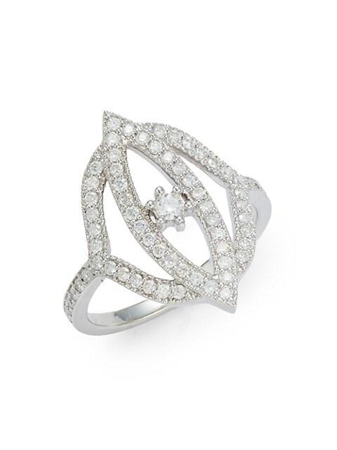 Sara Weinstock Simone 18K White Gold & Diamond Marquis Ring