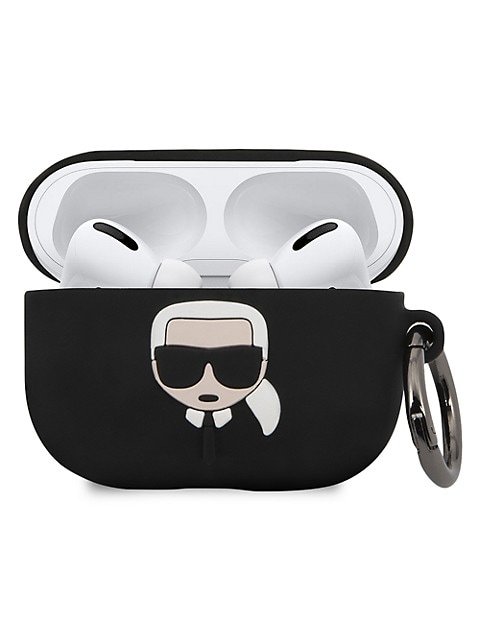 Karl Lagerfeld Paris Embossed 3d Logo Airpods Pro Case Cover On