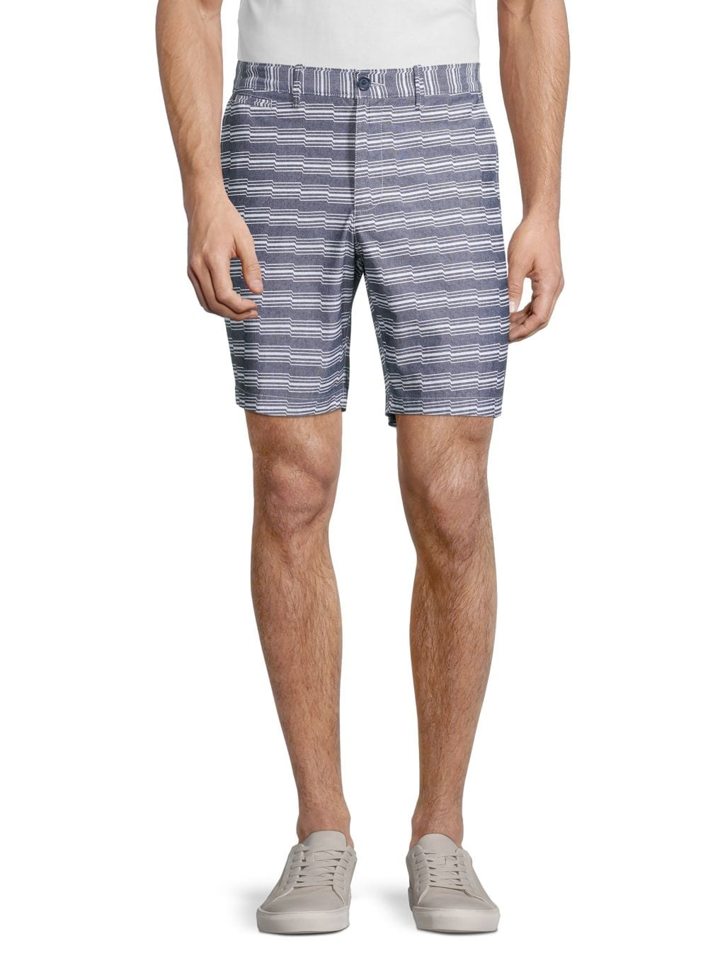 Original Penguin Slim-Fit Zig Zag Stripe Shorts