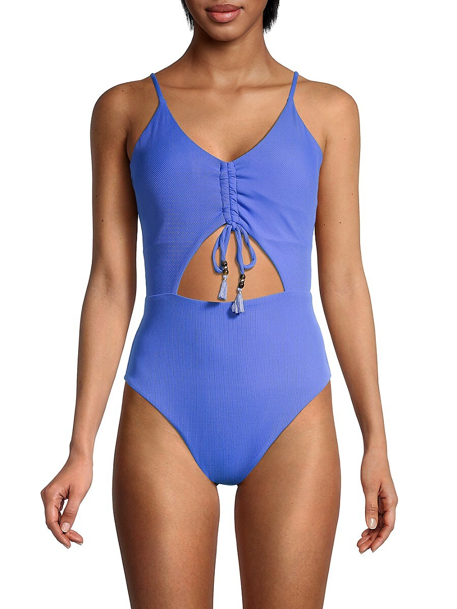 Women's Ruched Cutout One-Piece Swimsuit
