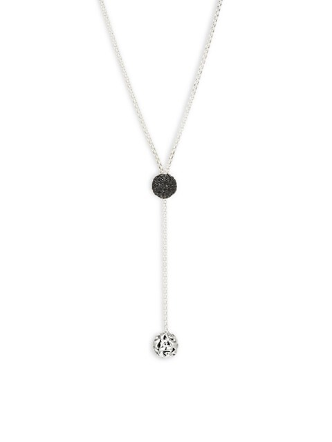 Charles Krypell Sterling Silver & Black Sapphire Y Necklace
