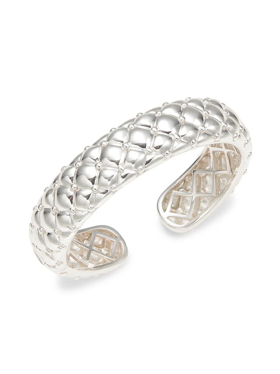 Women's Sterling Silver & 14K White Gold Cuff Bracelet