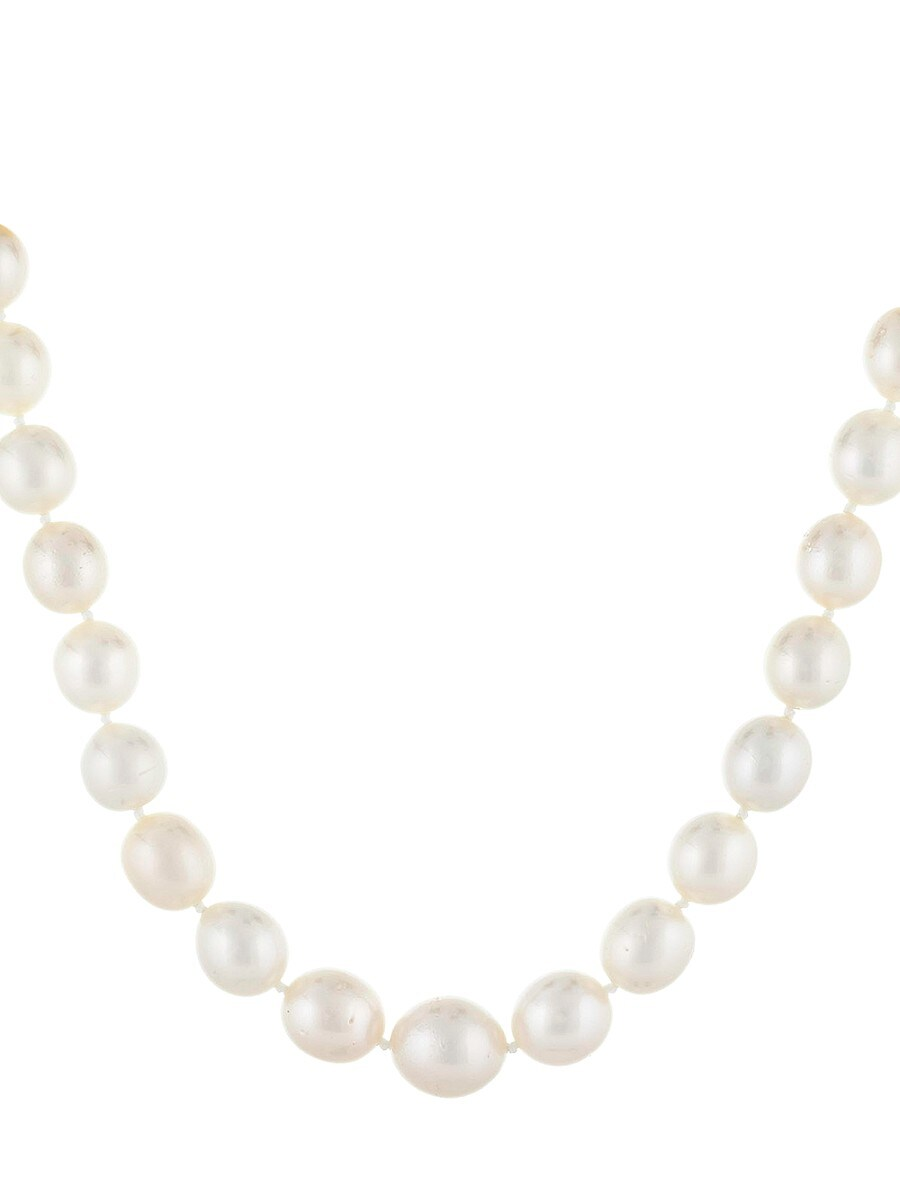 Women's 14K Yellow Gold & 9-11MM White Round South Sea Pearl Necklace