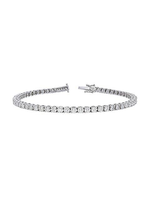 Nephora 14K White Gold & Diamond Tennis Bracelet