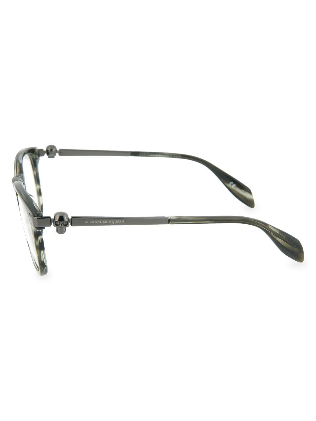 Alexander McQueen 49MM Square Reading Glasses