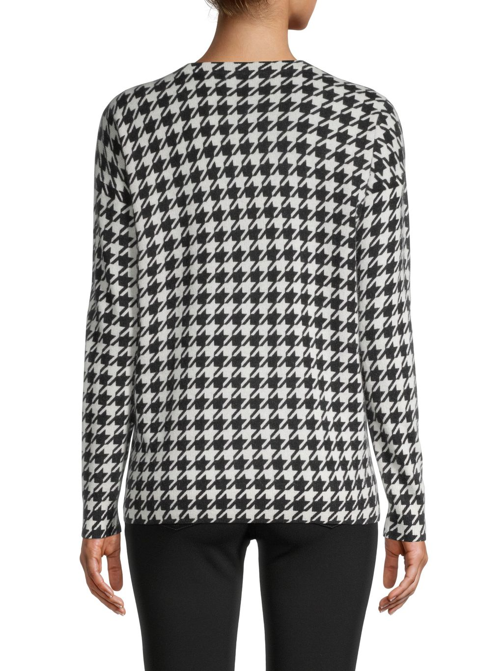 Saks Fifth Avenue Houndstooth Cashmere Sweater