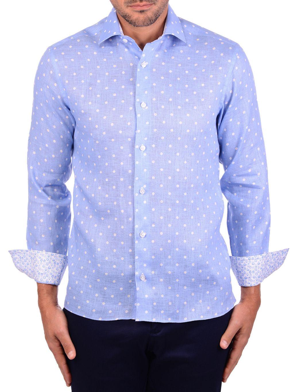 Bertigo Polka Dot Linen Shirt