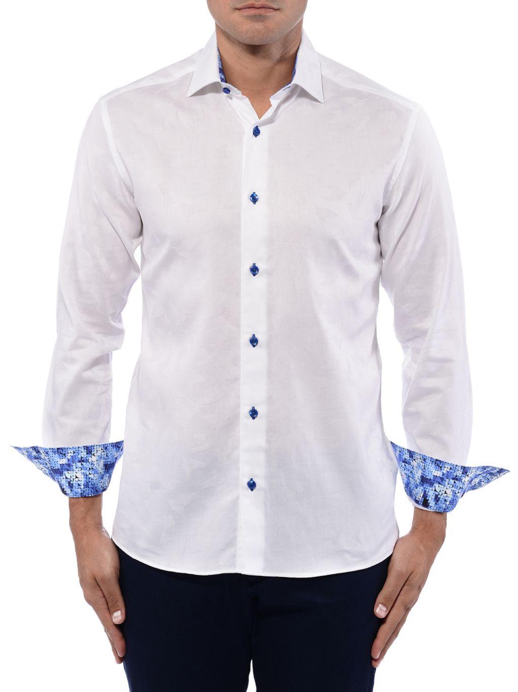 Bertigo Contrast-Cuff Shirt
