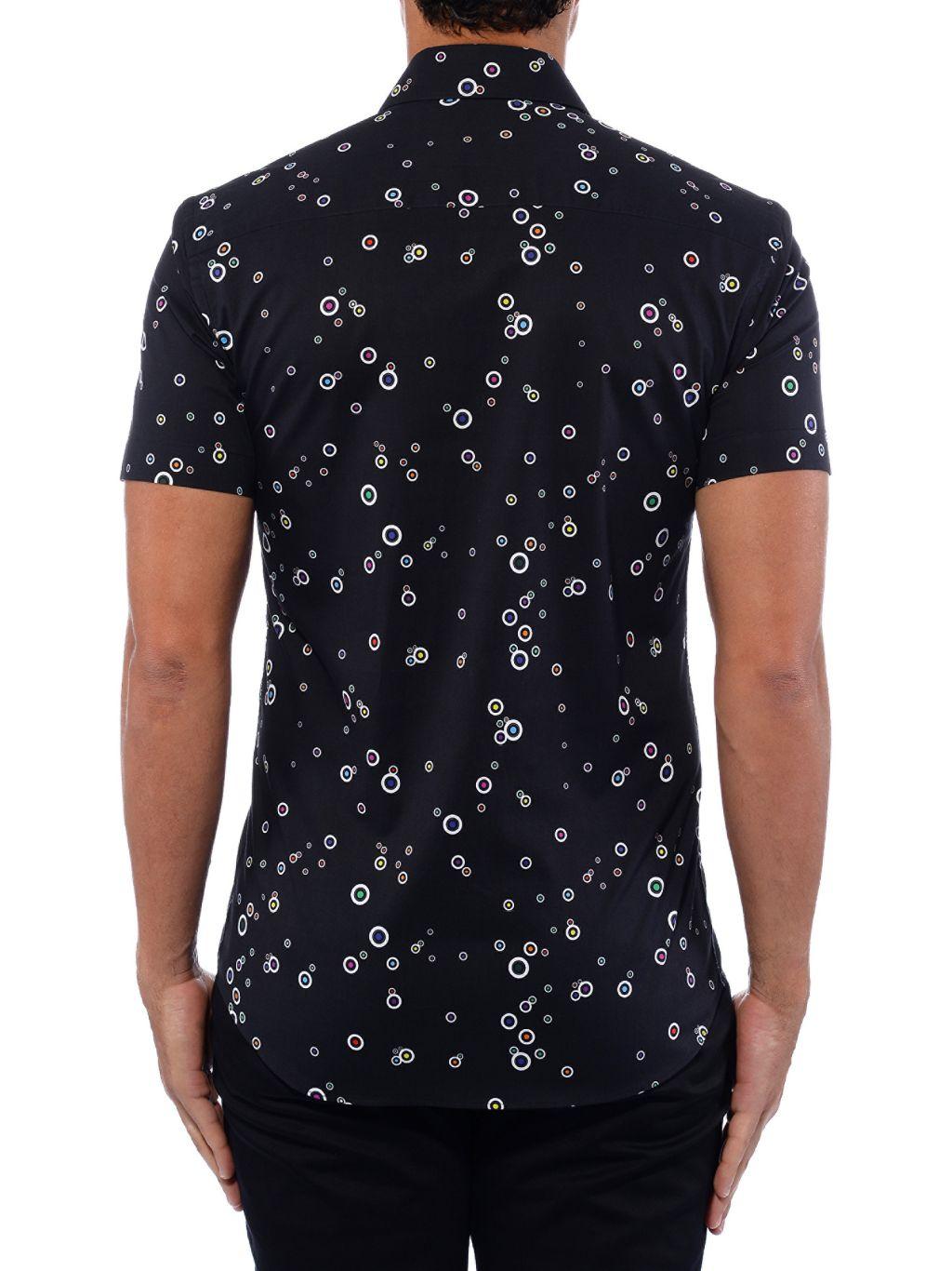 Bertigo Multicolor Bubble Graphic Short-Sleeve Shirt