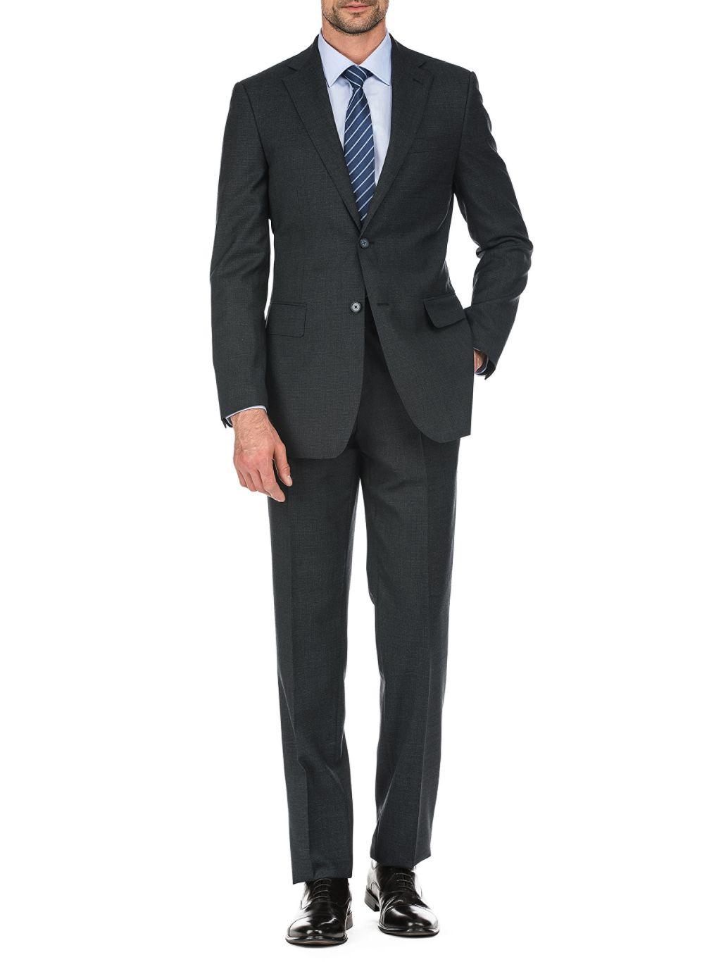 English Laundry Slim-Fit Plaid Wool-Blend Suit