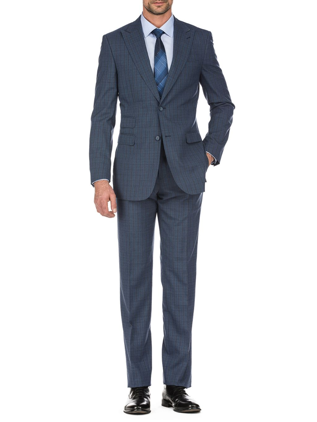 English Laundry Slim-Fit Windowpane Wool Suit