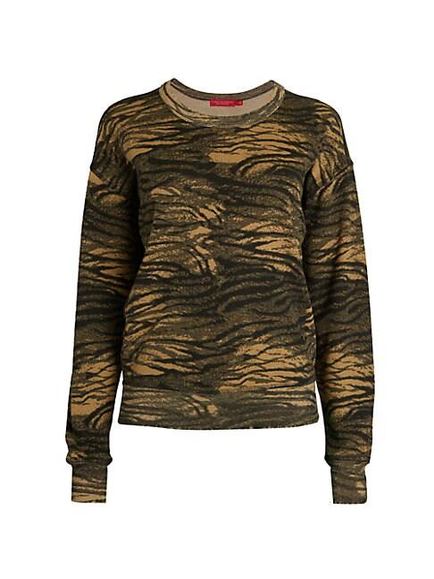 N:philanthropy Lauren Tiger-print Sweatshirt In Natural Tiger Multi