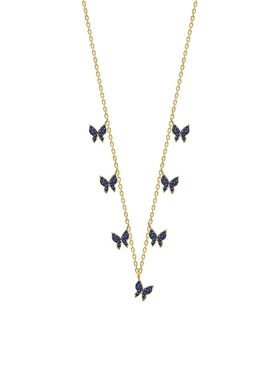 Women's 14K Gold Vermeil & Cubic Zirconia Butterfly Necklace