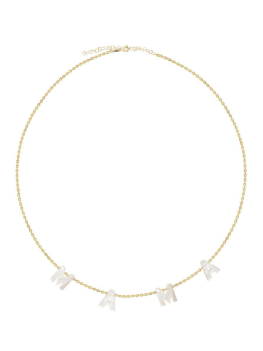 Women's Mama Freshwaster Pearl Gold Necklace