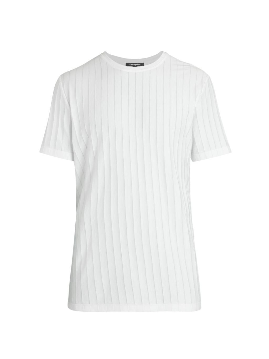 Karl Lagerfeld Paris Shadow Stripe T-Shirt