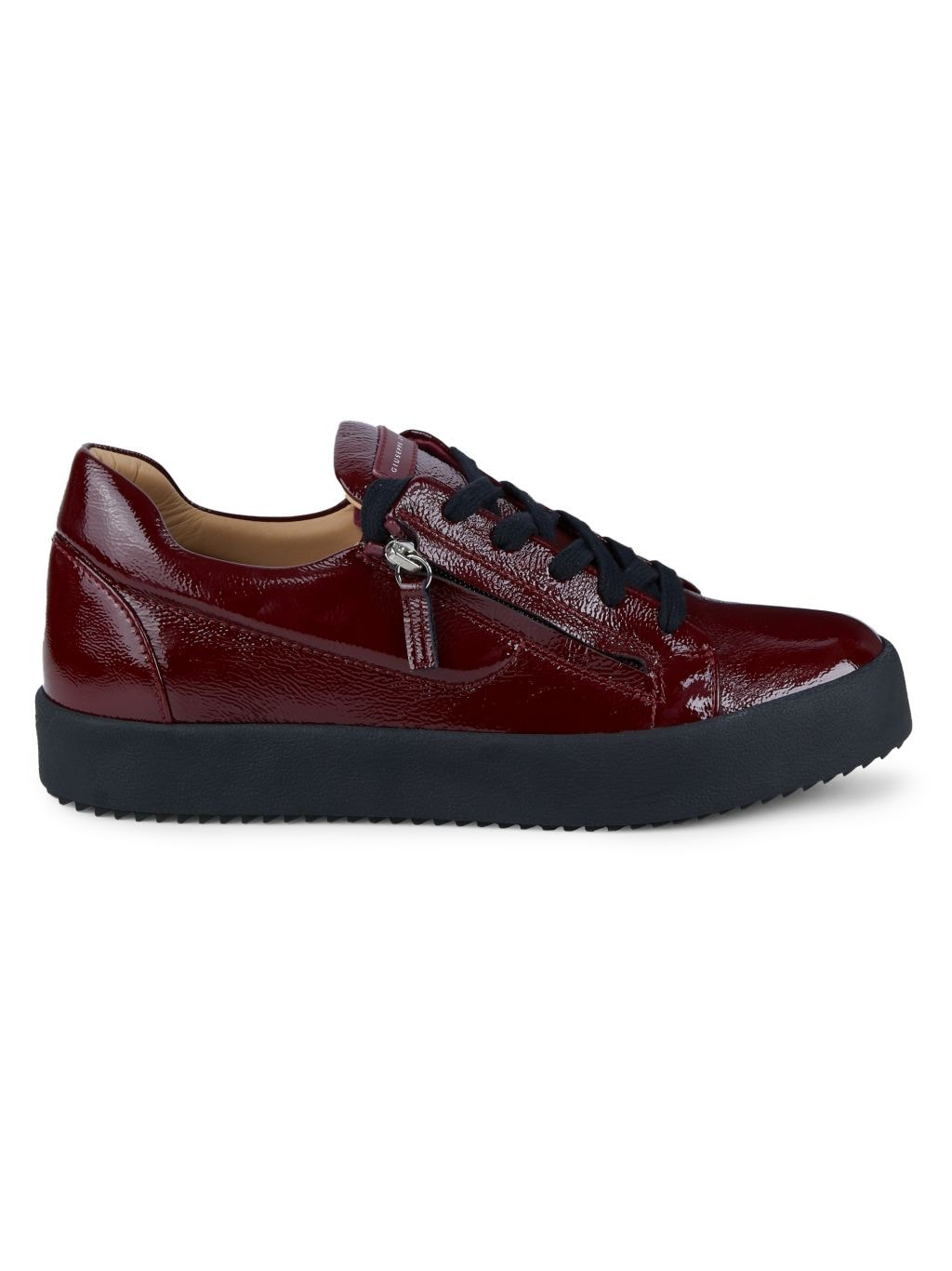 Giuseppe Zanotti Double-Zip Patent Leather Sneakers