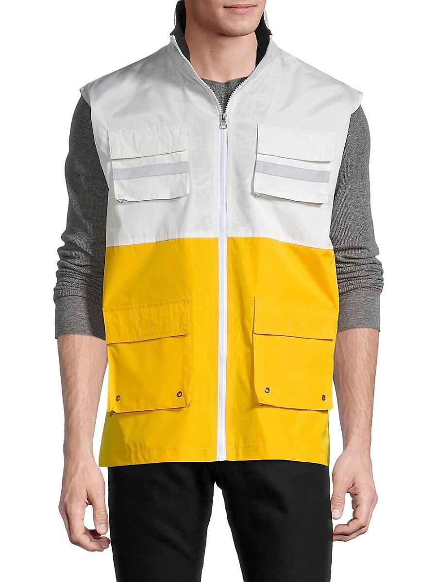 Men's Colorblock Full-Zip Utility Vest