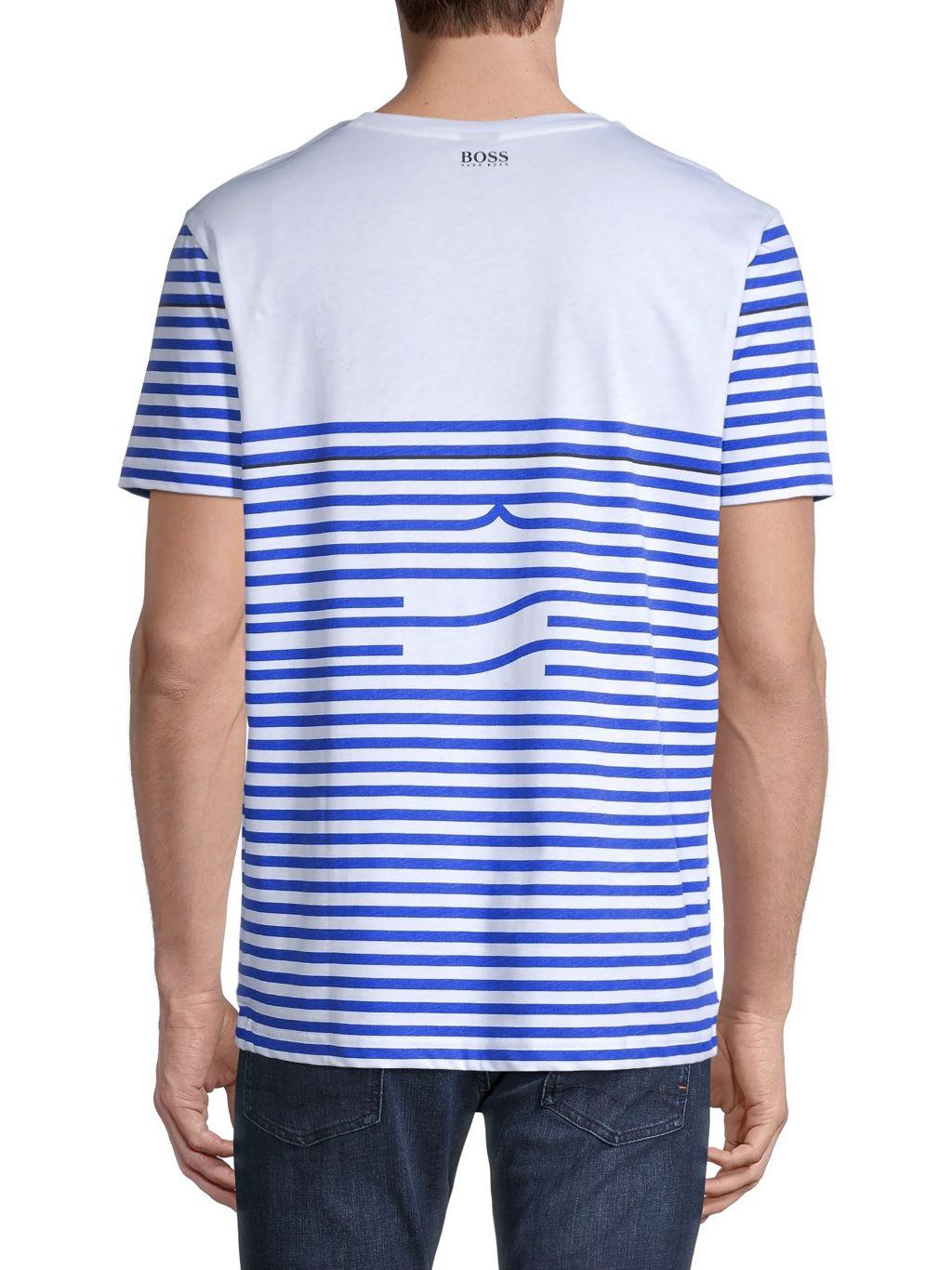 Boss Hugo Boss Stripe Cotton T-Shirt