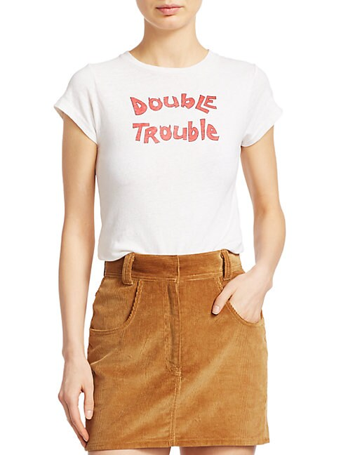 Re/done DOUBLE TROUBLE SLIM T-SHIRT