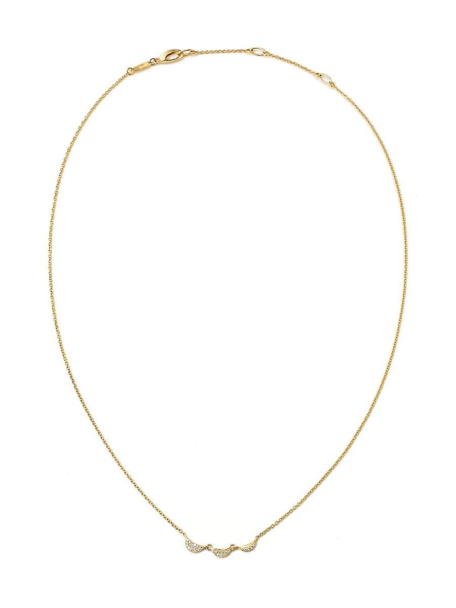 Adriana Orsini 14k Women's Goldtone & Diamond Phase Frontal Necklace