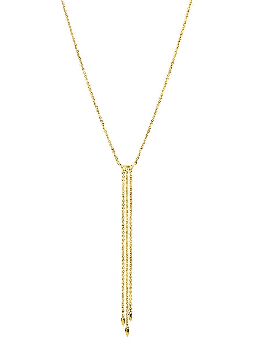 Women's Phase 14K Gold & Diamond Chain Fringe Y-Necklace