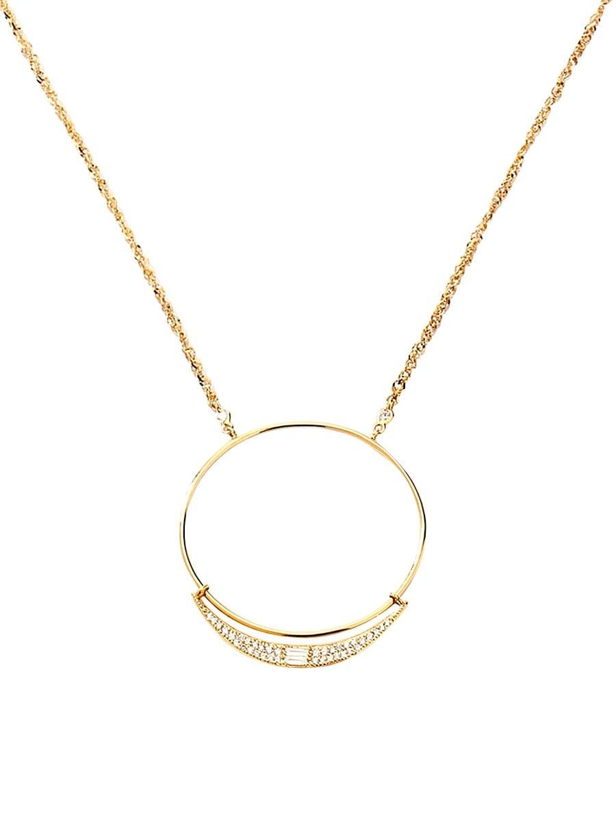 Women's 14K Yellow Gold & Diamond Pendant Necklace