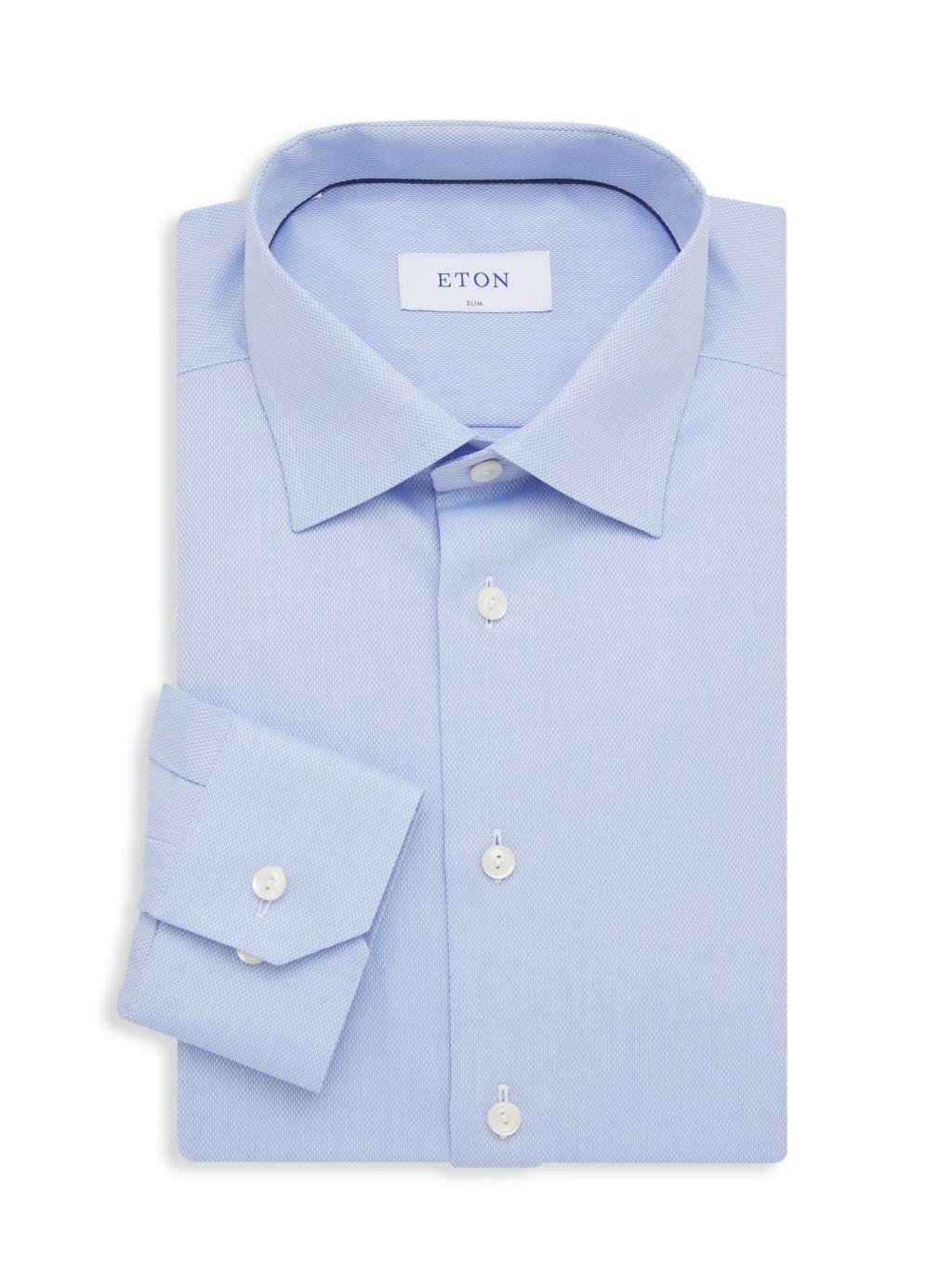 Eton Micro Weave Slim-Fit Dress Shirt