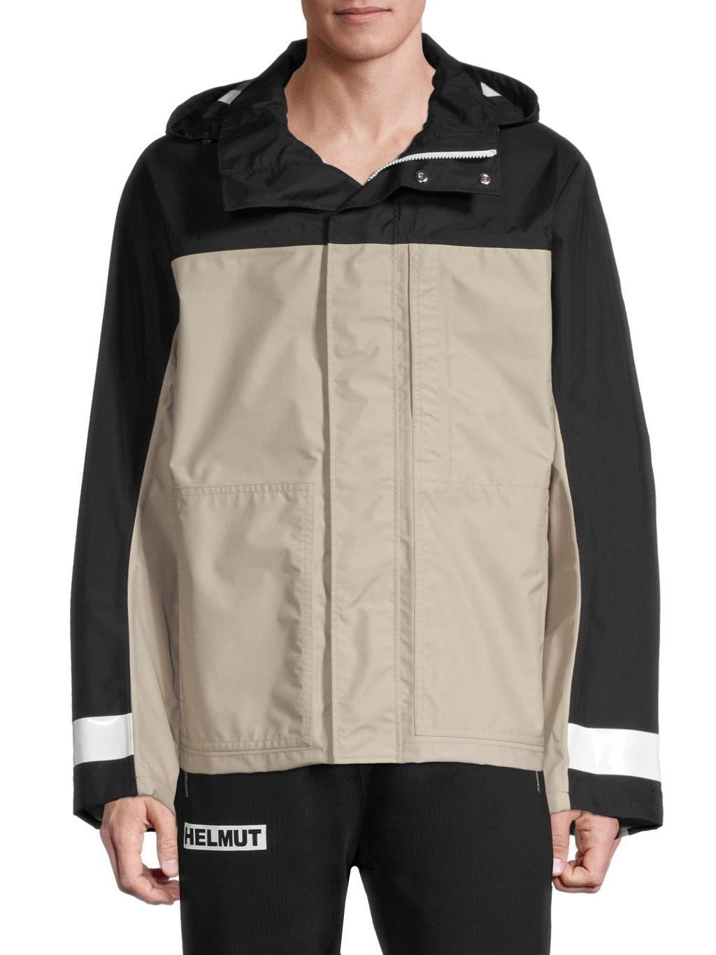 Helmut Lang Tech Hooded Zip-Up Jacket