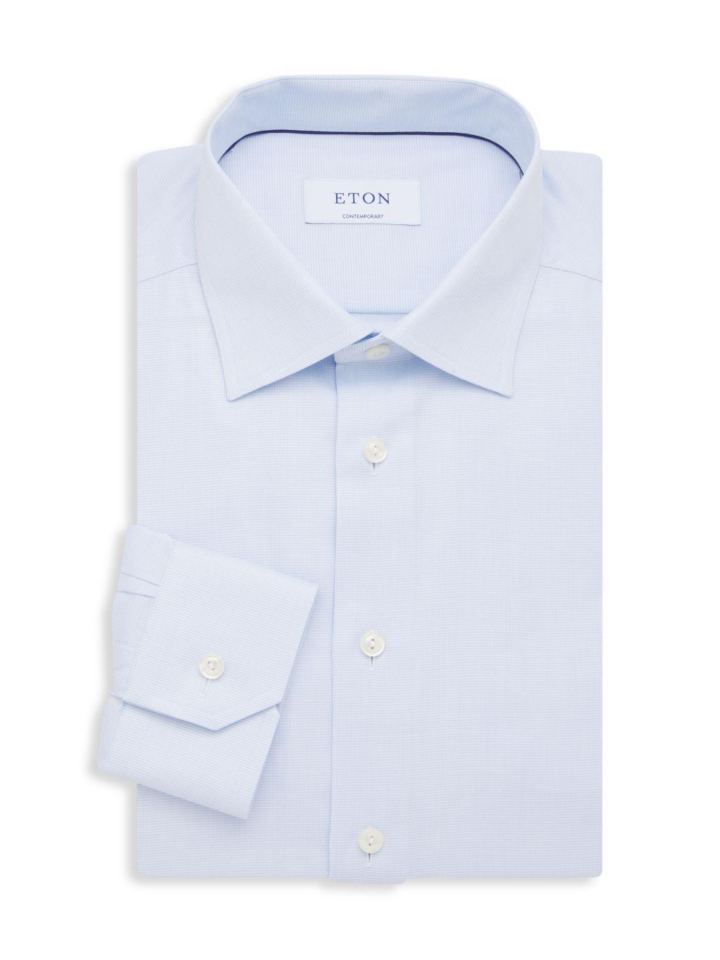 Eton Contemporary-Fit Bird's Eye Dress Shirt