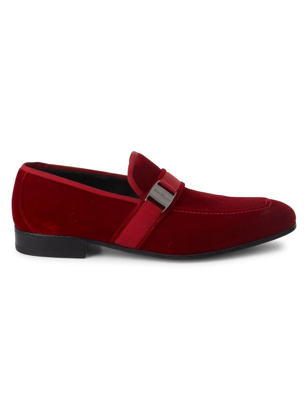Salvatore Ferragamo Danny Velvet Loafers