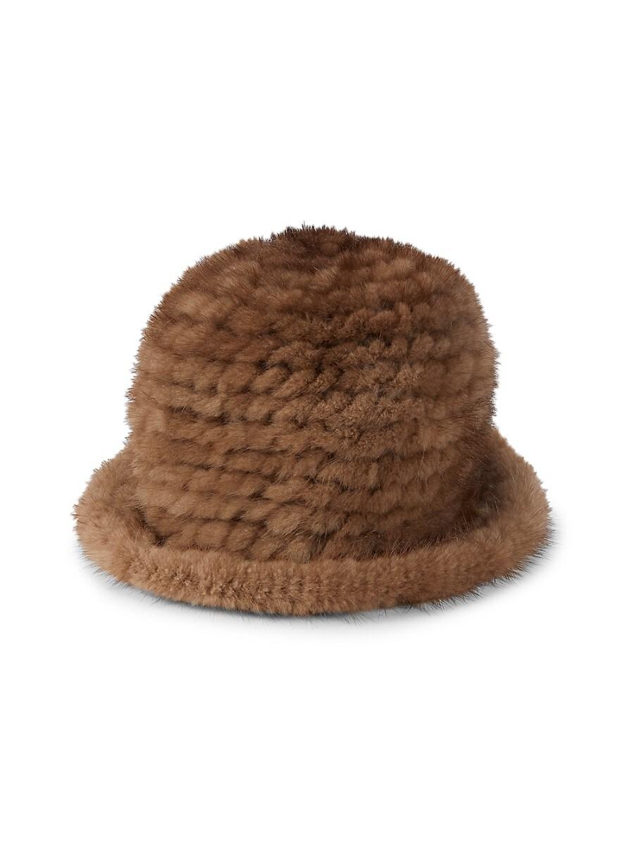 Women's Mink Fur Bucket Hat