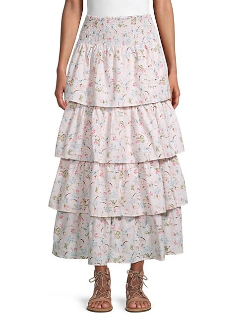 Weworewhat PALOMA TIERED SKIRT