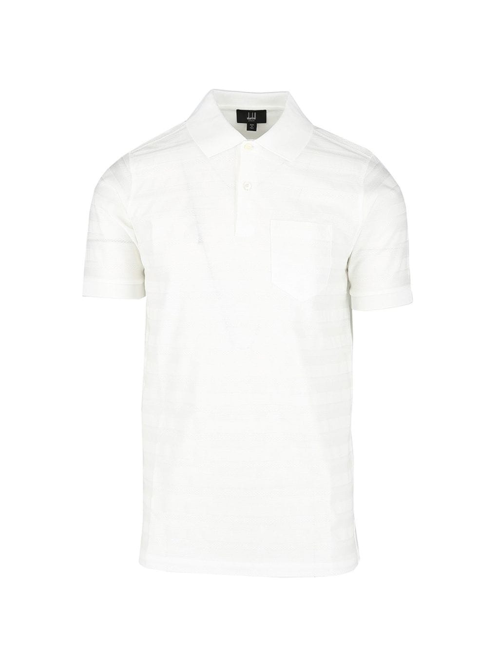 Dunhill Regular-Fit Textured Stripe Cotton Polo